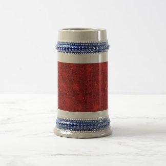 Fondo rojo abstracto jarra de cerveza
