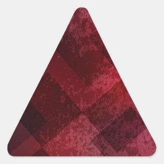 Fondo rojo abstracto calcomanías triangulos personalizadas