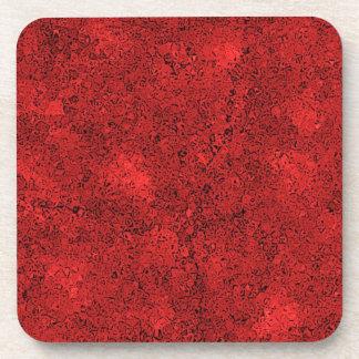 Fondo rojo abstracto posavasos de bebida