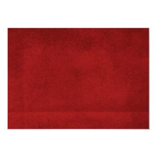 Fondo rojo arrugado invitación 12,7 x 17,8 cm
