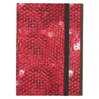 Fondo rojo de la imagen de la lentejuela