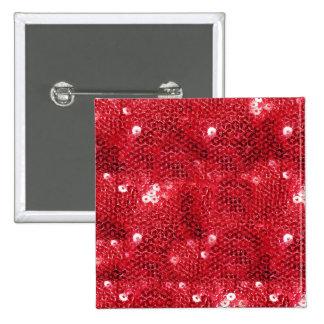 Fondo rojo de la imagen de la lentejuela pin cuadrado