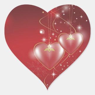 Fondo rojo del papel pintado de las relaciones del calcomanía de corazón personalizadas