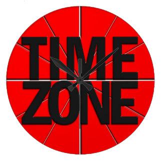 Fondo rojo del reloj del Timezone