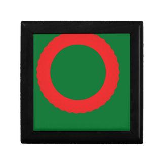 fondo rojo del verde del círculo cajas de regalo