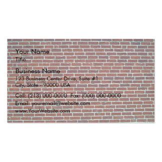 Fondo rojo oscuro moderno de la pared de ladrillo plantillas de tarjeta de negocio
