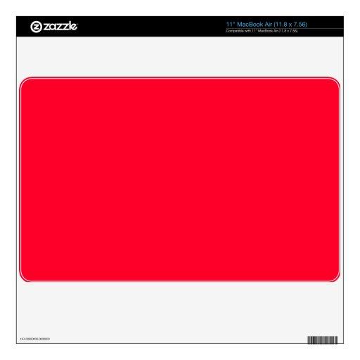 Fondo rojo rubicundo MacBook skin