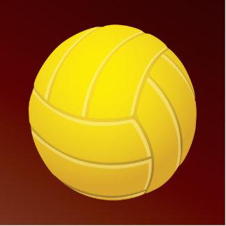 Fondo rojo terroso del voleibol amarillo pin fotoescultura
