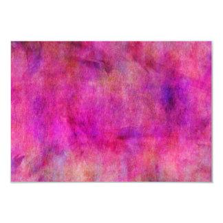 """Fondo rosado caliente de la acuarela invitación 3.5"""" x 5"""""""