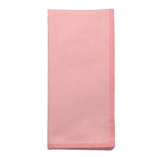 Fondo rosado coralino ligero servilleta