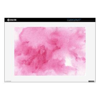 fondo rosado de la acuarela para su 38,1cm portátil calcomanía