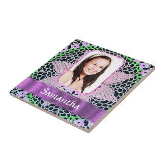 Fondo rosado de la foto del cordón azulejo cerámica