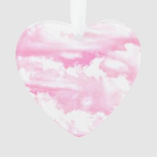 Fondo rosado de la moda de las nubes