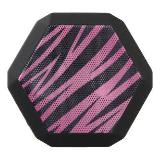 Fondo rosado de la raya de la cebra altavoces bluetooth negros boombot REX