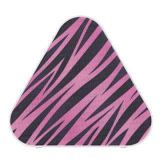 Fondo rosado de la raya de la cebra altavoz bluetooth
