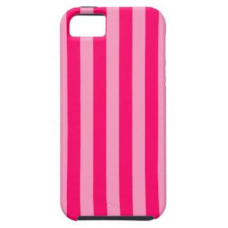 Fondo rosado de la raya funda para iPhone 5 tough