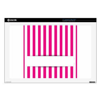 Fondo rosado de la raya portátil 43,2cm skin