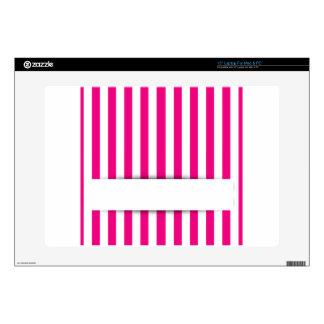 Fondo rosado de la raya portátil skins
