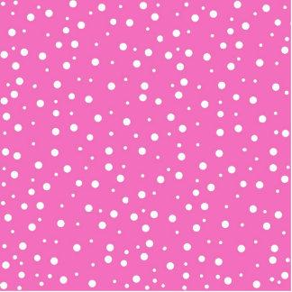 Fondo rosado de los lunares fotoescultura vertical