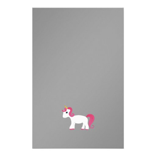 Fondo rosado del negro del unicornio del pelo papeleria personalizada