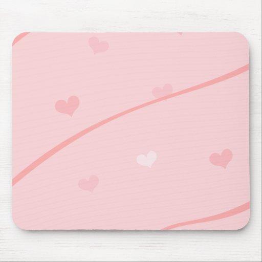 Fondo rosado delicado del corazón tapete de raton