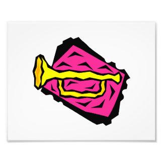 Fondo rosado estilizado de Grapic de la trompeta a Fotografías