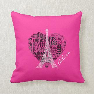 Fondo rosado femenino de París el | del amor Almohada