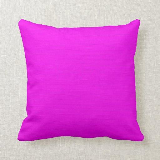 Fondo (rosado) fucsia llano almohada