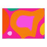 Fondo rosado invitación 12,7 x 17,8 cm