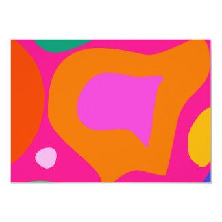 """Fondo rosado invitación 5"""" x 7"""""""