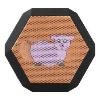 Fondo rosado rechoncho del naranja del cerdo altavoces bluetooth negros boombot REX