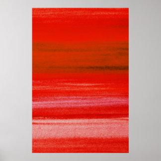 Fondo rosado rojo del extracto de la acuarela de B Póster