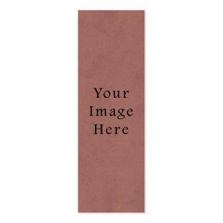 Fondo rosado rojo subió vintage del papel de perga tarjetas de visita mini