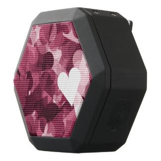 Fondo rosado suave de los corazones de Kawaii Altavoces Bluetooth Negros Boombot REX