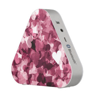 Fondo rosado suave de los corazones de Kawaii Altavoz Bluetooth