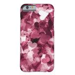 Fondo rosado suave de los corazones de Kawaii Funda Para iPhone 6 Barely There