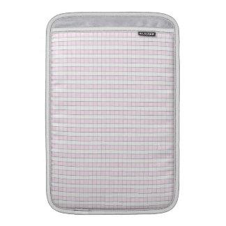 Fondo rosado y blanco del modelo del control de la funda para macbook air