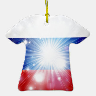 Fondo ruso de la bandera ornamentos para reyes magos