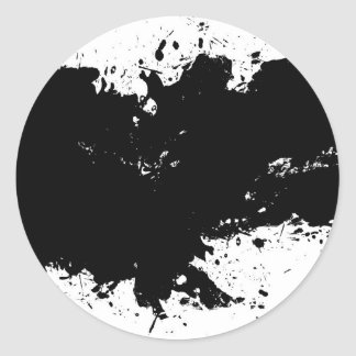 Fondo salpicado sucio de la tinta pegatina redonda