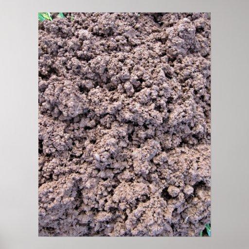 Fondo seco del suelo de arcilla impresiones