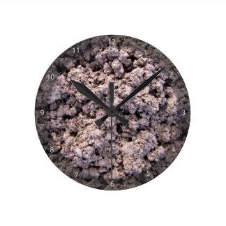 Fondo seco del suelo de arcilla relojes de pared