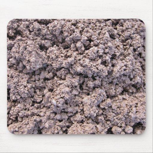 Fondo seco del suelo de arcilla alfombrilla de ratones