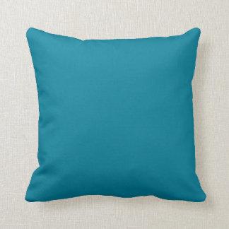 Fondo sólido azul del color de la tendencia del tr almohada