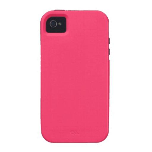 Fondo sólido del color de fondo de las rosas fuert Case-Mate iPhone 4 carcasas