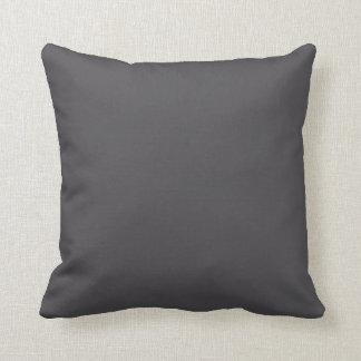 Fondo sólido gris del color de la tendencia de los almohadas