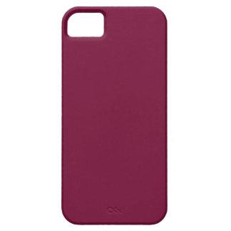 Fondo sólido rojo cardinal del color de la iPhone 5 protector