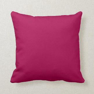 Fondo sólido rosado rojo del color de la tendencia cojines