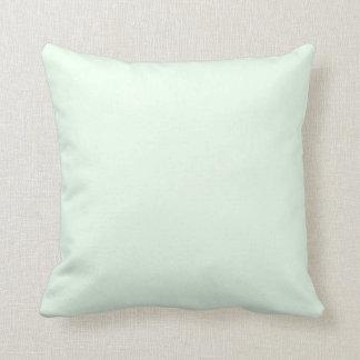 Fondo sólido verde claro del color de la tendencia cojin