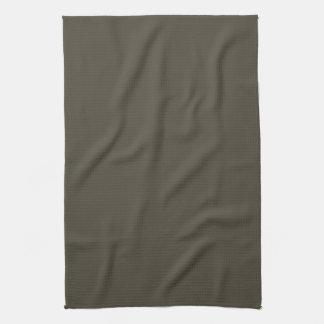 Fondo sólido verde oscuro verde oliva del color de toalla de cocina