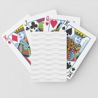 Fondo sombreado geométrico blanco baraja de cartas